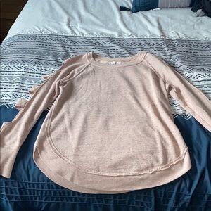 light pink long sleeve shirt
